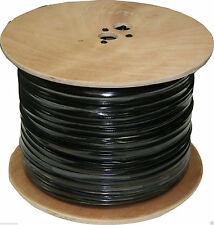 NEW Black 1000FT BULK RG59 SIAMESE CABLE 20AWG+18/2 CCTV SECURITY CAMERA WIRE