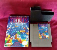 Vintage 1989 Tetris Game w Box Nintendo NES REV-A Russian Building Block Puzzle