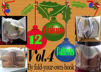 Book Folding Pattern Snowflake 302 folds #525 Christmas Gift