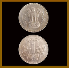 India 1 Rupee Coin, 1976 Bombay Unc