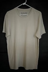 NEW Save Khaki United Extra Large XL Crew Neck Tee T Shirt - Beige 100% Cotton