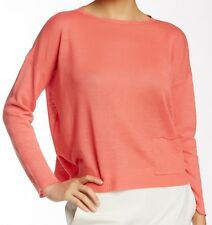 Eileen Fisher Organic Linen Bateau Neck Boxy Sweater Flora PL NWT $158