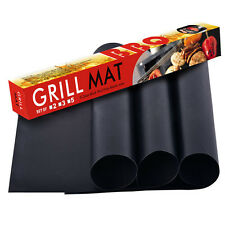3pcs Reuseable Non-Stick Barbecue Cooking Grill Baking Mat  BBQ Liner Pad Sheet