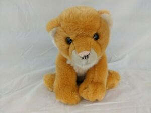 """Animal Alley Lion Cub Plush 8"""" 2000 Stuffed Animal Toy"""
