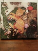 "Vintage 1983 Kittens Jigsaw Puzzle 550 Pieces 18""x24"" Hoyle Products COMPLETE"