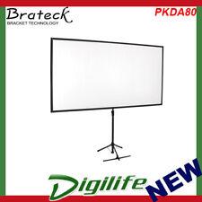 "Brateck Economy 80"" Tripod Projector Screen Black PKDA80 1.87m x 1.1m (16:9)"