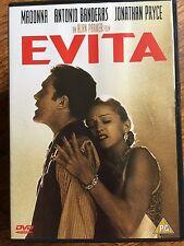 Madonna Antonio Banderas EVITA ~ 1996 Andrew Lloyd Webber Musical Film UK DVD