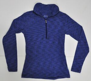 Columbia Women's Size Small Cotton Space Dyed Shirt 1/4 Zip Pullover Purple S