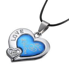 Partnerkette Liebe LOVE YOU LIVETIME Kette 1 Zirkonia Herz Blau Silber Treue 176