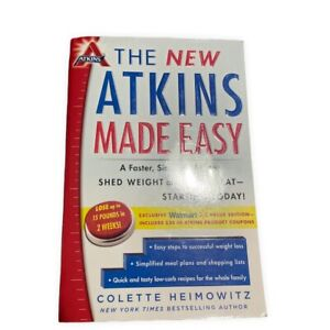 The New Atkins Made Easy Diet Book Colette Heimowitz Lose Weight Feel Great