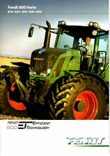 Fendt 800 Vario 819 822 824 826 828 Tractor Brochure  2011 8720E
