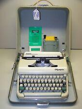 Antique 1962 Olympia White-Cream SM5 Vintage Typewriter 2090277