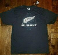 NEW adidas All Blacks New Zealand T-Shirt Tee Black Rugby Shirt Men's 2XL RARE!