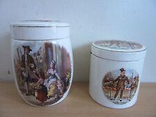 Pair of Antique Sandland Ware Staffordshire England Jars
