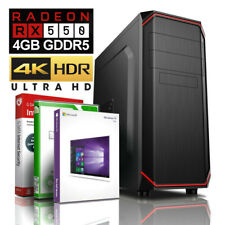 GAMER PC INTEL i7 930 16GB 256GB SSD + 500GB HDD RX 550 4GB Windows 10 Computer