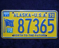 ALASKA ★ NORTH TO THE FUTURE ★ USA Auto Kennzeichen ★ 1970/ 71/ 72 ★ 87365