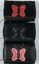 adies Girls Fabretti Butterfly soft Leather Purse  credit card holder Wallet