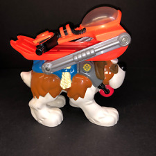 2000 Mattel Fisher Price Rescue Heroes Wind Chill St Bernard Dog Sled Figure Toy