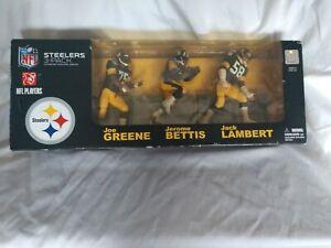 McFarlane 2008 NFL Legends 3-Pack Pittsburg Steelers Bettis , Lambert and Greene
