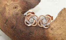 Stud Natural Round Rose Gold Fine Earrings