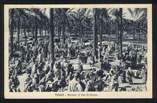 Cartolina - TRIPOLI Mercato di Suk El Giuma - VG 1931 Colonie Tripolitania Libia