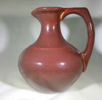RARE Antique ART DECO GLADDING McBEAN POTTERY ( Franciscan BROWN PITCHER CARAFE