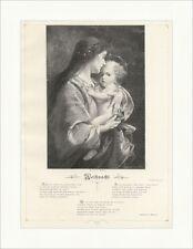 Madonna C. Czech Religion Glaube Weihnacht Haustein Jesus Holzstich E 16628