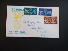 1961 CEPT on Private Illustrared First Day Cover with Torquay & Slogan Postmark