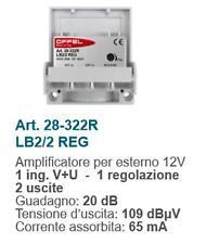 Amplificatore per esterno 12V 1 ing. V+U 1 reg 2out 20db 28-322R
