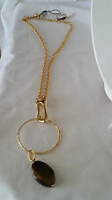 1AR by UnoAerre - 18KT Gold Plated Chain Necklace with Detachable Agate Pendant