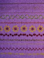 "2 yard ""Pizza Party Stripe"" Purple 100% Cotton Fabric- Pepperoni/Olives/Mushroom"