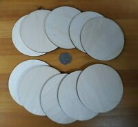 Wooden CIRCLE Shape Coasters Plain Wood Craft Blanks 10cm (100mm) Blank Circles