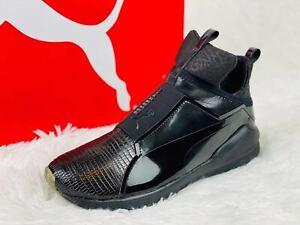 PUMA Womens Fierce Metallic Cross-Trainer Shoe Black size 8.5