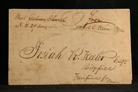 New York: West Galway Church 1827 Stampless Cover, Ms, Postmaster Free, DPO