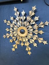 1960s vintage retro Hand Made Wooden Wall Sculpture Star Burst