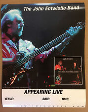 The Who JOHN ENTWISTLE Rare 1999 DOUBLE SIDED PROMO TOUR POSTER 4 Left CD MINT
