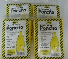 4 Mayday Emergency Poncho Camping Hiking Outdoor Bug-Out-Bag First aid Rain Coat