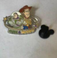 Disney Toy Story Buzz Lightyear Woody Didneyland Park Pin 2004