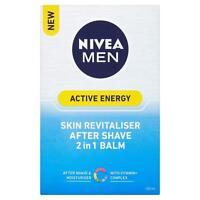 NIVEA MEN Active Energy After Shave Balm 2-in-1 Moisturiser + Post Shave, 100 ml