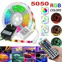 5M RGB 5050 SMD LED Strip Lights 44 Key Remote controller 12V 2A Power Full Set