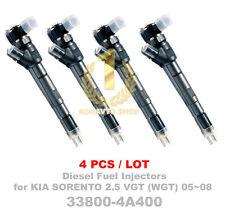 4PCS Bosch CRDI Diesel Fuel Injector 33800 4A400, 0445110 233 for Sorento