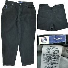 Faded Glory Woman Womens Plus 18W 100% Cotton Black Stonewash Relaxed Jeans