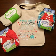 Bumgenius Goodie Bag Lot W/ Cloth Wipes Jules & Sassy 4.0 Cloth Diapers