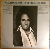 Neil Diamond - His 12 Greatest Hits LP Record Vinyl 8X-MCF 2550 MCA Records 1974
