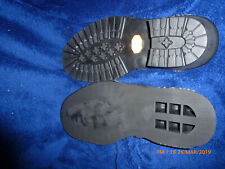 VIBRAM LUMBER JACK SOLES SIZE 10-11-12 BLACK
