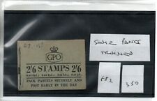 GB - Stamp Booklet - (350)  2/6d - F52  - some panes trimmed