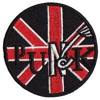 Écusson patche Punk UK union jack patch brodé transfert thermocollant