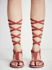 Free People Women's Shoes Tie Up Gladiator Sandals Rust Size 37 US 6