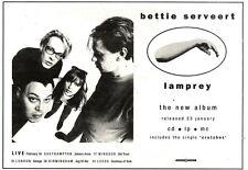 """28/1/95PGN39 ALBUM/TOUR ADVERT 7X11"""" BETTIE SERVEERT : LAMPREY"""