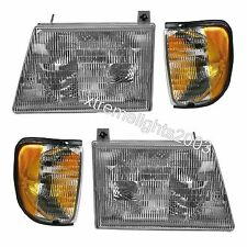 HOLIDAY RAMBLER AMBASSADOR 2000 2001 4PC SET HEADLIGHTS HEAD LIGHTS CORNER RV